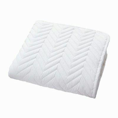[スヤラボ]ポリエステルベッドパッド(SU3918)セミダブル ホワイト