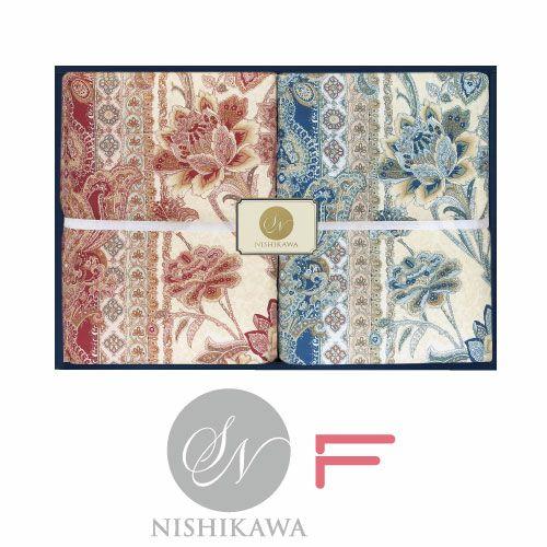 [昭和西川]羽毛肌掛け布団2枚セット ダウン85% フェザー15% ピンク