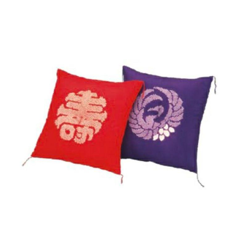 [昭和西川]座布団 1509(羽二重) 【夫婦判】64×68cm ピンク・ブルー