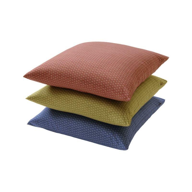 [昭和西川]座ぶとんカバー IY0872 【銘仙判】55×59cm ピンク・ブルー