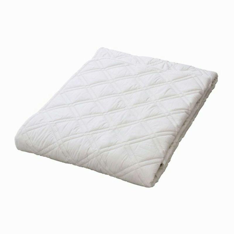 [スヤラボ]ウールベッドパッド(SU3920)/キング ホワイト