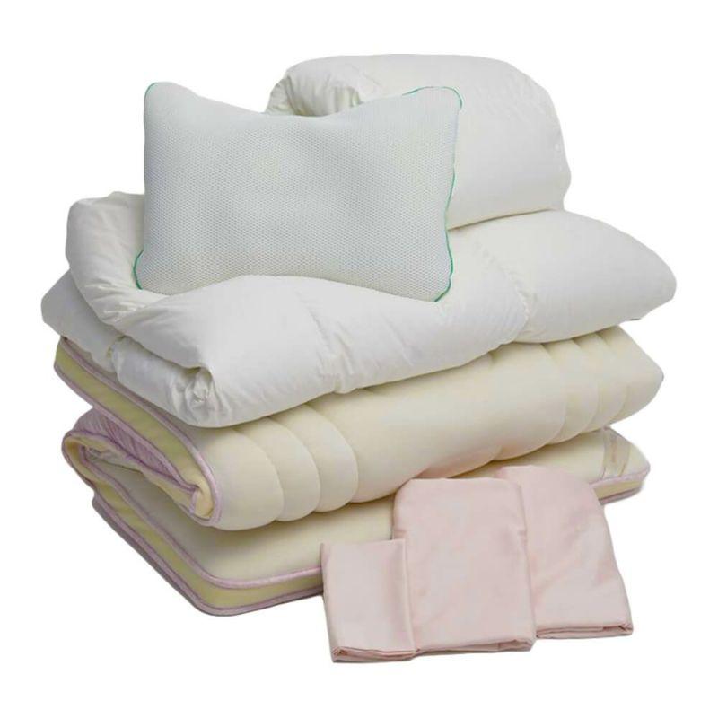 オリジナル寝具セット 敷き布団タイプ ベーシック ピンク・ブルー