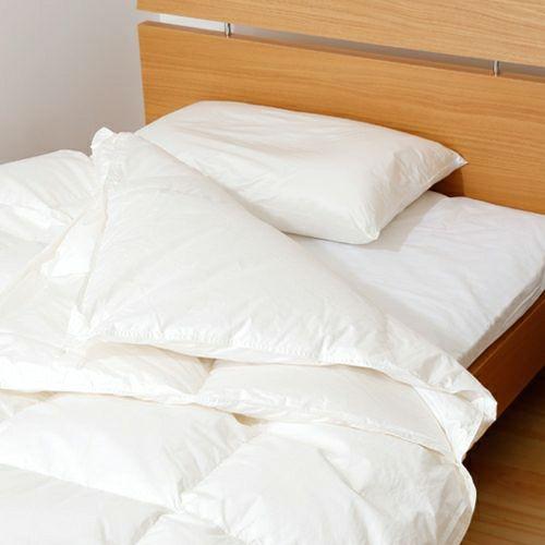 2枚合わせ羽毛布団 ハンガリー産ホワイトダック90% 0.9kg+0.3kg/EC8020 シングル ホワイト