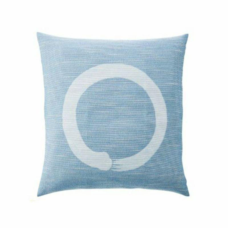 甲斐ちぢみ 座ぶとんカバー 一筆丸/IY-1422【銘仙判】ブルー