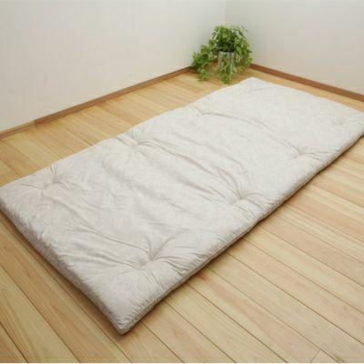 羊毛15層敷き布団 6.4kg/GQ5001 ダブルロング140×210㎝ ベージュ