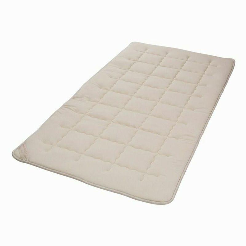 3層ウール敷きパッド 3.6kg/GQ5004  ダブル140×200㎝ ベージュ