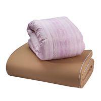 ムアツ開発50周年記念モデル ムアツ・羽毛布団セット シングル ピンク・ブルー