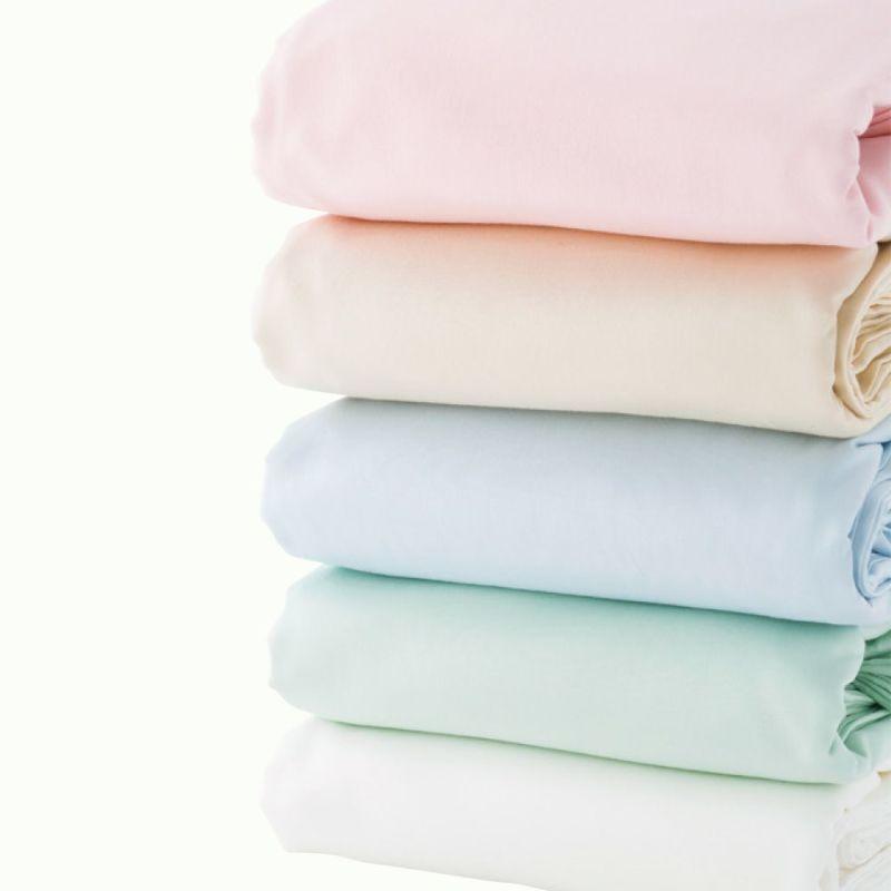 [スヤラボ]ボックスシーツ マチ30cmタイプ/デイリーサテンイージーケア(セミダブル)120×200×30cm ピンク・ベージュ・ブルー・グリーン・ホワイト