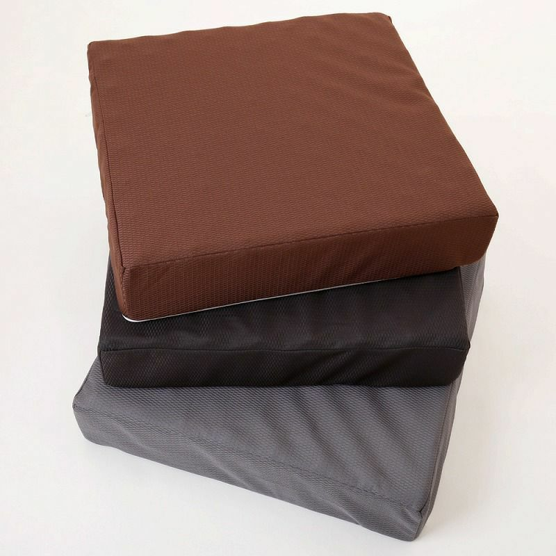 [ムアツ]ムアツクッション/2フォーム01(サイズ)7×40×40cm ブラウン・ブラック・グレー