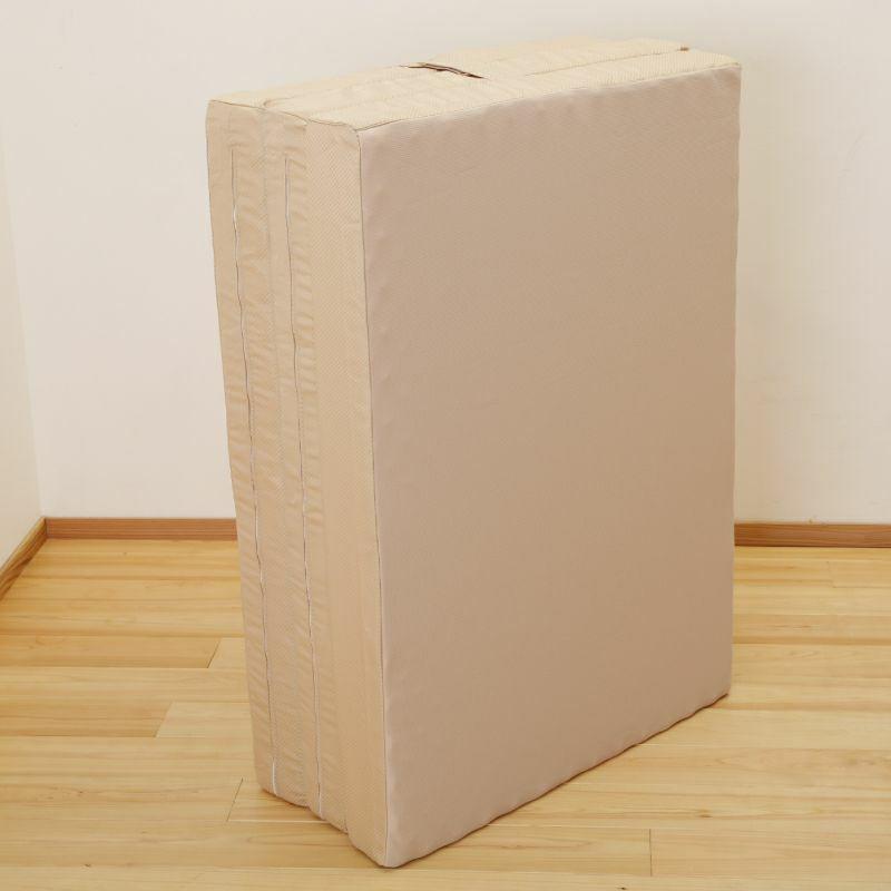 ムアツ替がわ/MU6000 三つ折り90mm用 (セミダブル)9×120×200cm ベージュ