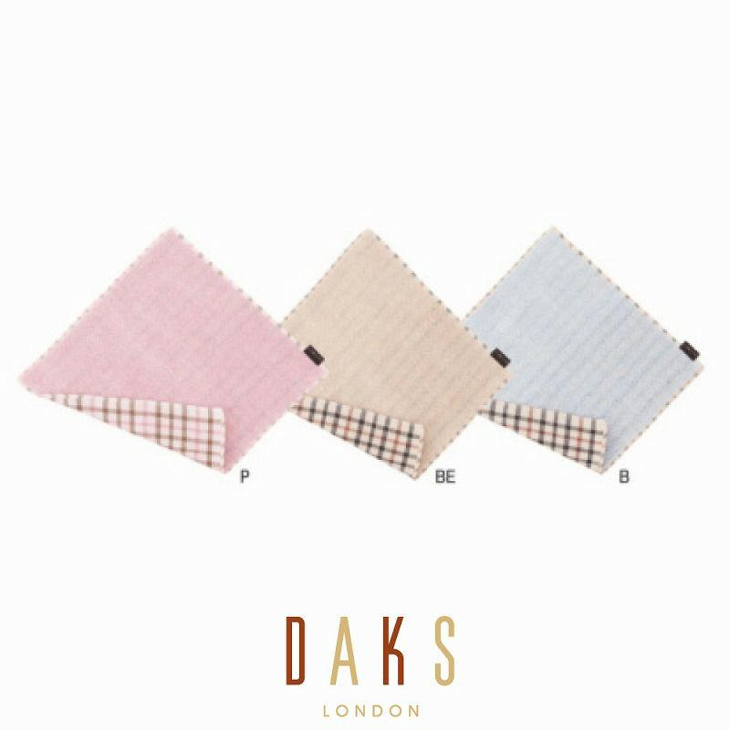 DAKS タオルハンカチ/カラーパイルチェック 3枚セット