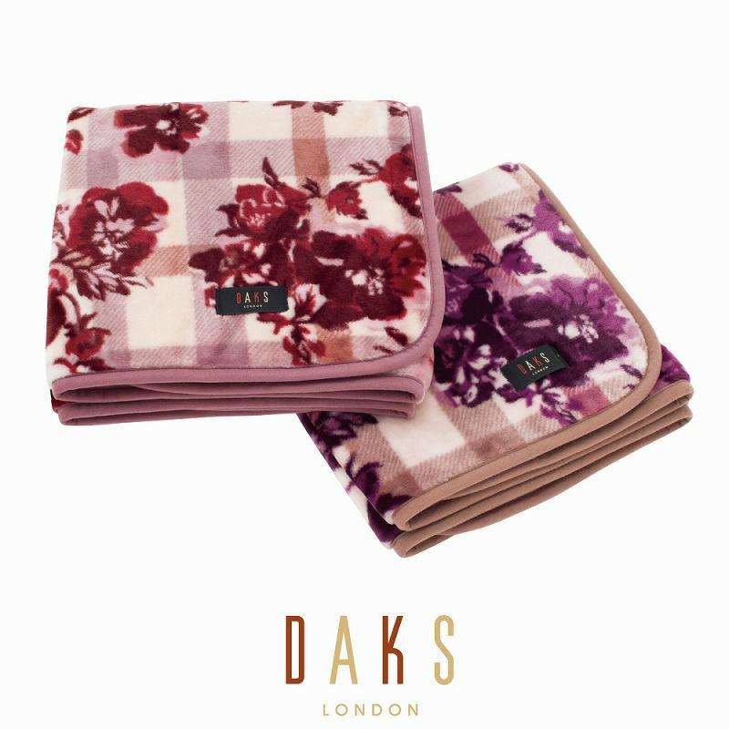 DAKS クォーターケット/フローラルチェック