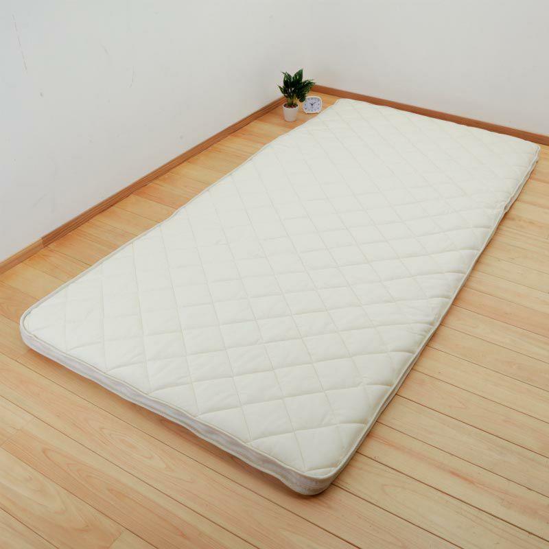 リバーシブル・カセット式洗える敷き布団 3.54kg/ シングル100×210㎝ ベージュ