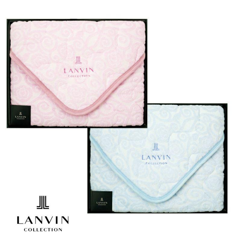 [LANVIN COLLECTION]綿シンカーパイルパッドシーツ シングル100×205cm ピンク・ブルー