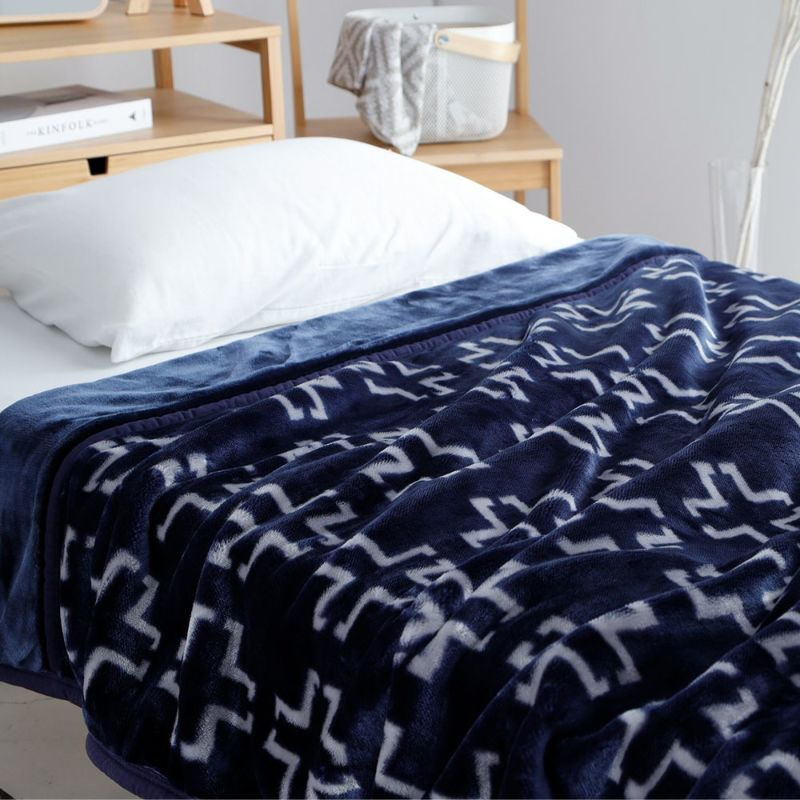 衿付き2枚合わせマイヤー毛布 /ネットオリジナル(クロス)