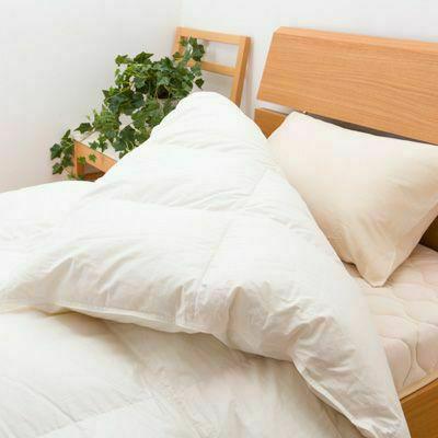 羽毛布団リフォーム(打ち直し)【肌掛け】(ダブルサイズ)ホワイト