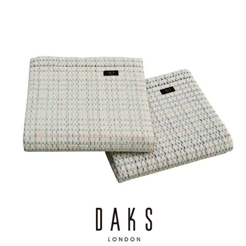 [DAKS]タオルケット/ハウスチェックⅡ (シングル)140×190㎝ ピンク・ベージュ