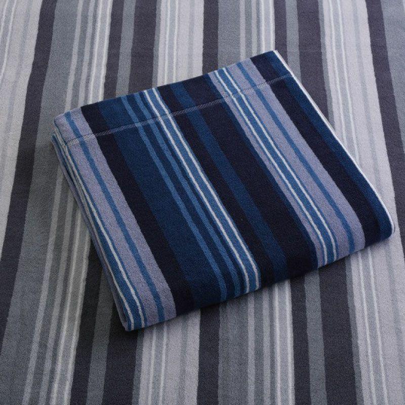 今治タオルケット/バーチカル 145×190cm ブルー・グレー