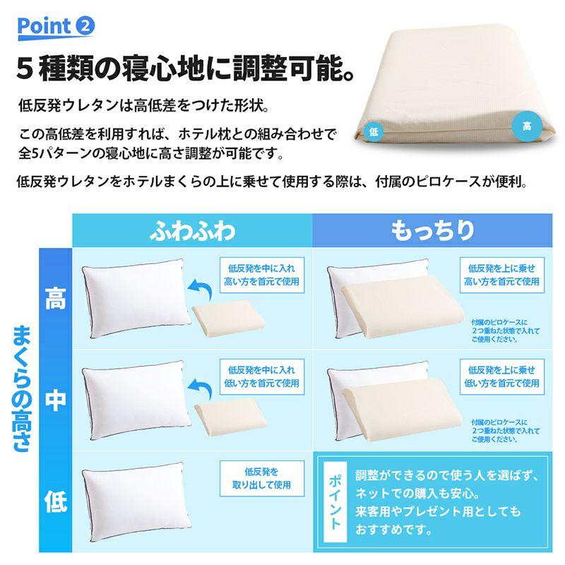 ホテルモードピロー アメイジング2個セット 約40×60cm ホワイト