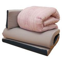 西川ストア限定 ふとん3セット ツインフォーム&ダックダウン90% シングルサイズ ピンク/ブルー
