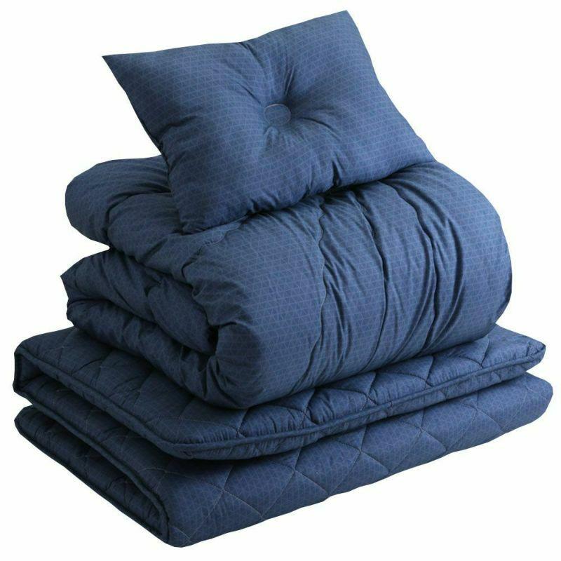 洗える 寝具7点(軽量掛けふとん・超軽量掛けふとん・敷きふとん・まくら・カバー3点)セット シングル チェック ネイビー・グレー