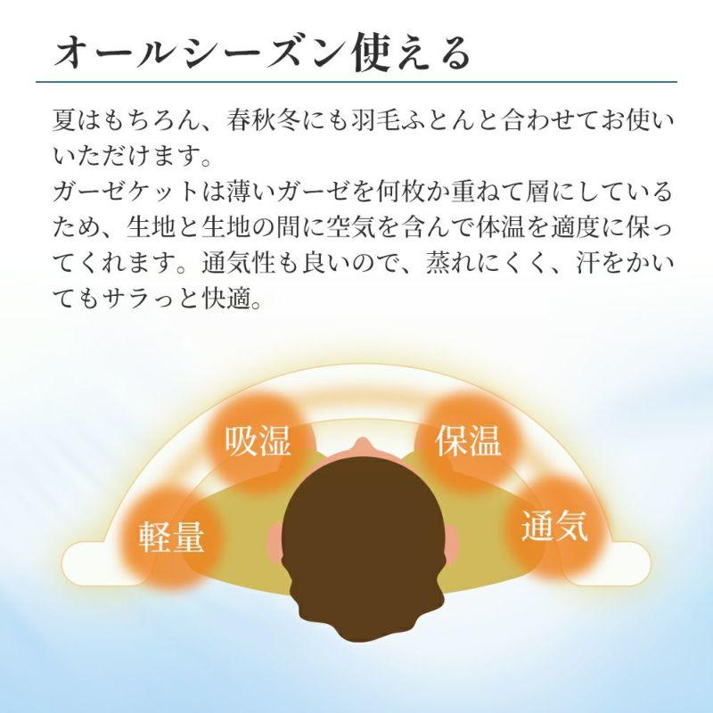 【2枚セット特価】今治5重織ガーゼケット/エイブⅡ