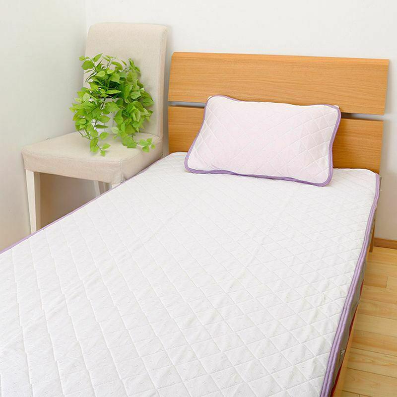 【2枚セット特価】[クールリブ]Cool Liv RELAX/パッドシーツ(ダブル) ピンク・ブルー・グレー