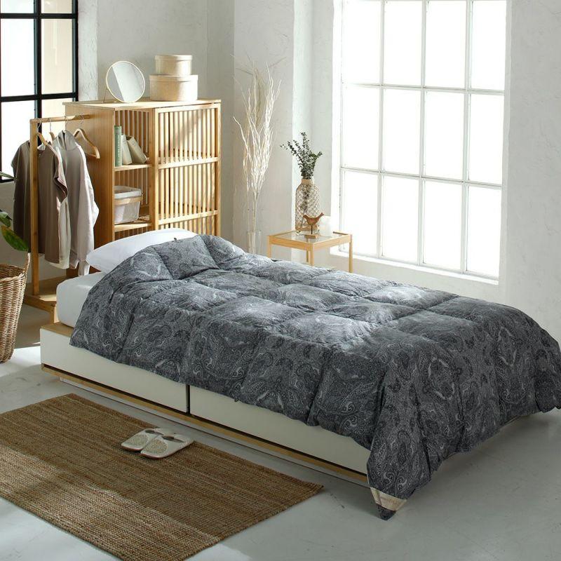 【2点セット】羽毛肌掛けふとんと軽量毛布セット